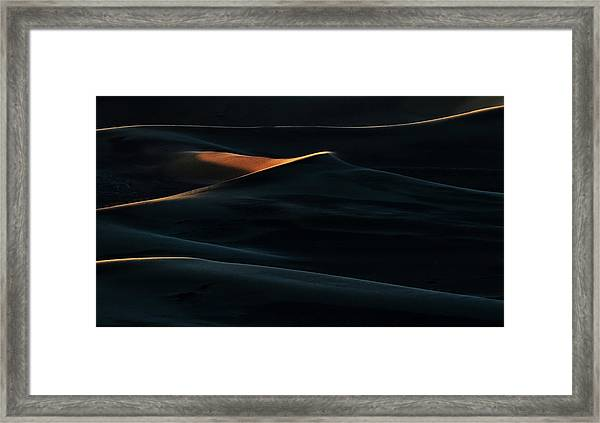 Blades Of Light Framed Print by Mohammad Shefaa