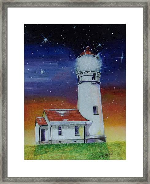 Blanco Lighthouse Framed Print