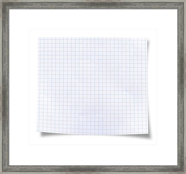 Blank Square Rules Lined Paper Framed Print by Tolga TEZCAN