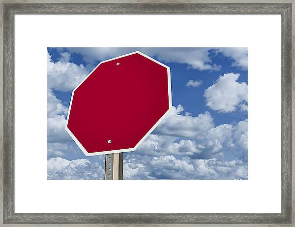 Blank Stop Sign by Tsuji