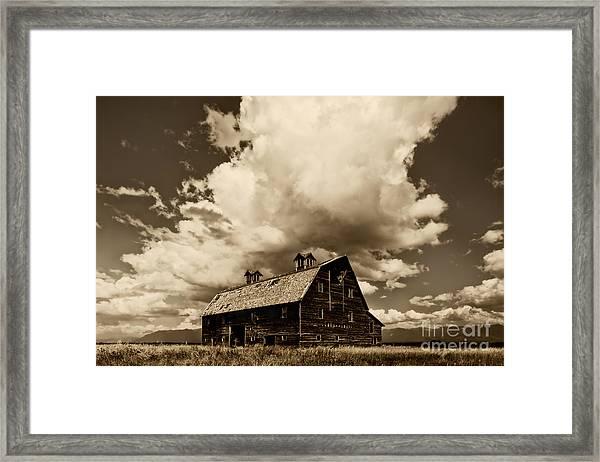 Blasdel Barn Framed Print