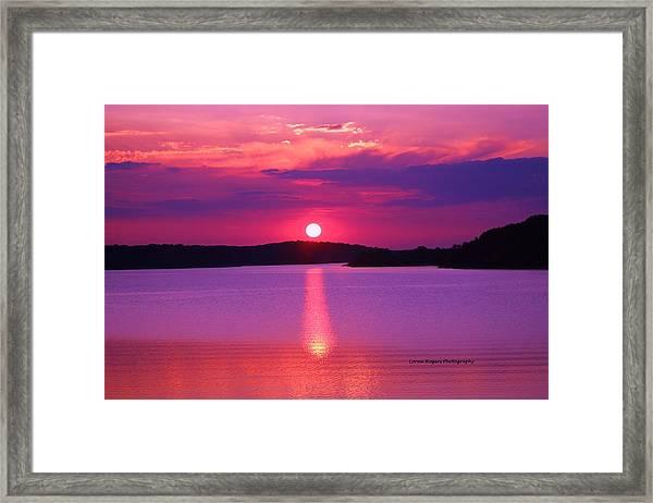 Blazing Sunset Framed Print