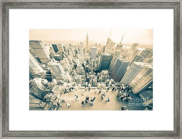 Bleached Manhattan Framed Print