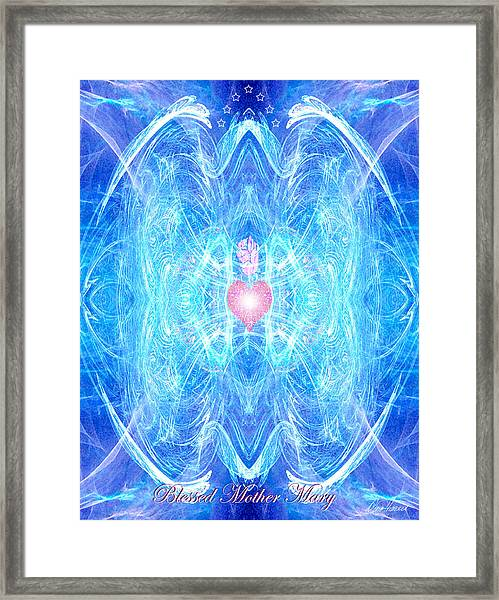 Blessed Mother Mary Framed Print