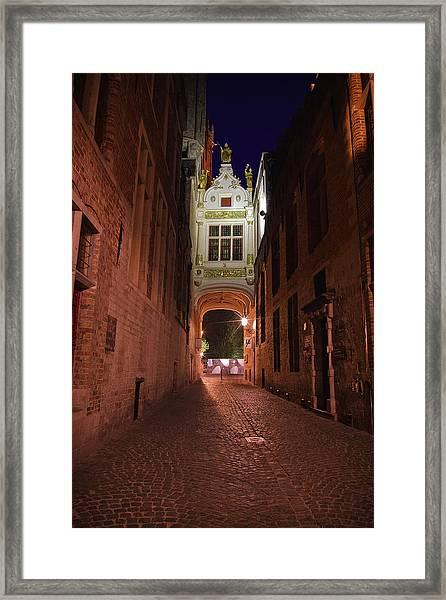 Blind Donkey Alley Framed Print