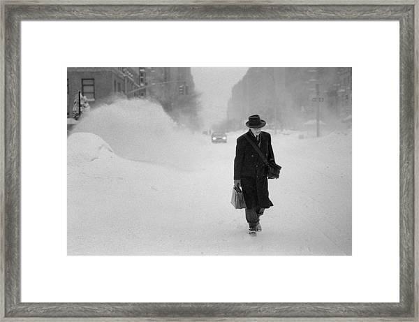 Blizzard On Park Avenue Framed Print