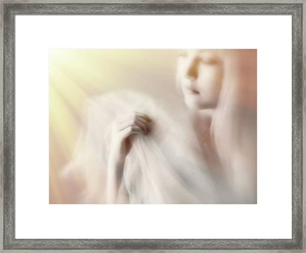 Blonde Beauty Framed Print by Mel Brackstone