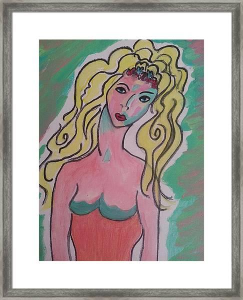 Blonde Lady Framed Print