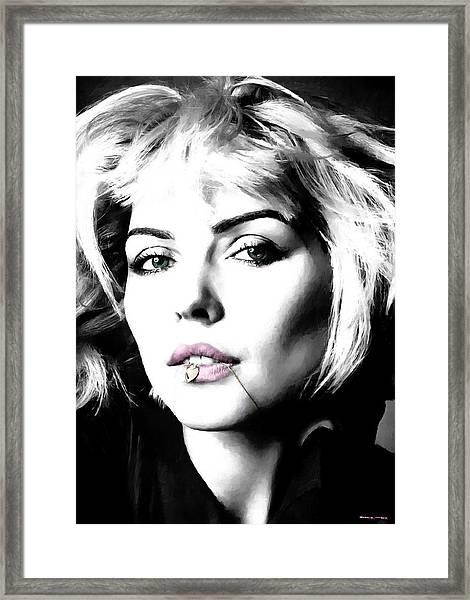 Blondie Large Size Portrait Framed Print