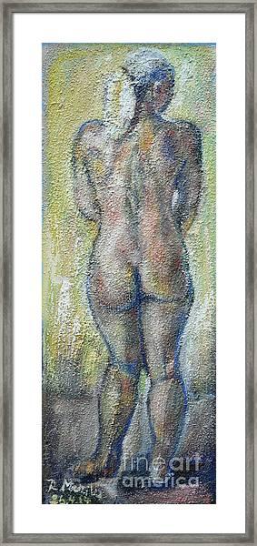 Blond's Back Framed Print