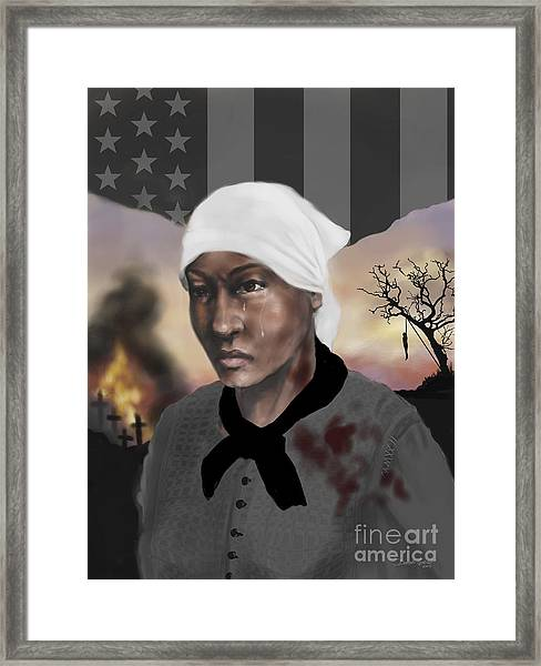 Blood On The Fields Framed Print