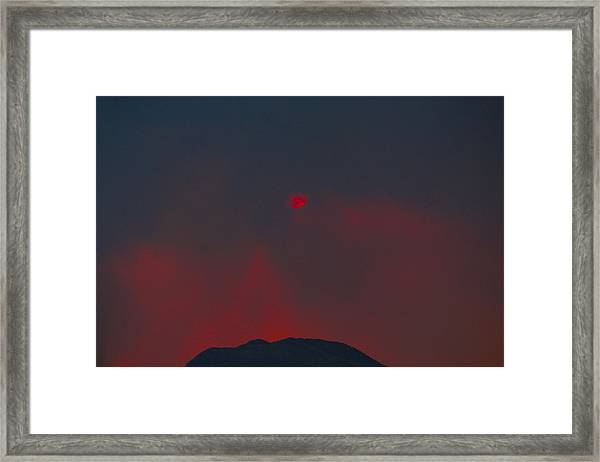 Blood Sun Framed Print