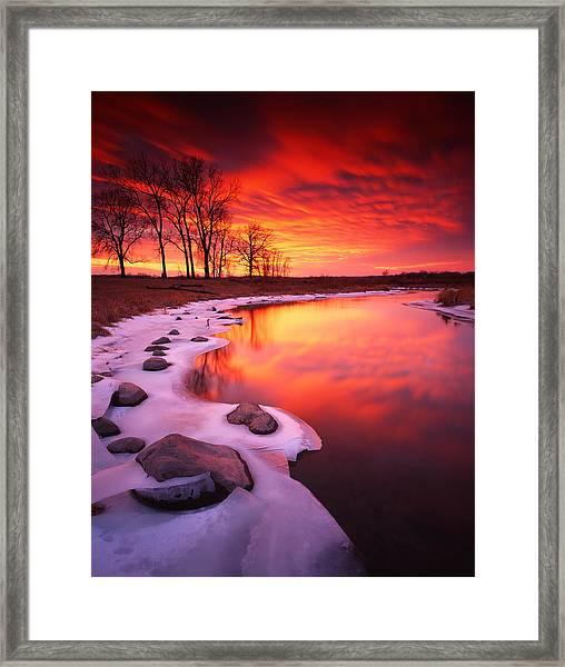 Blood Sunset Framed Print