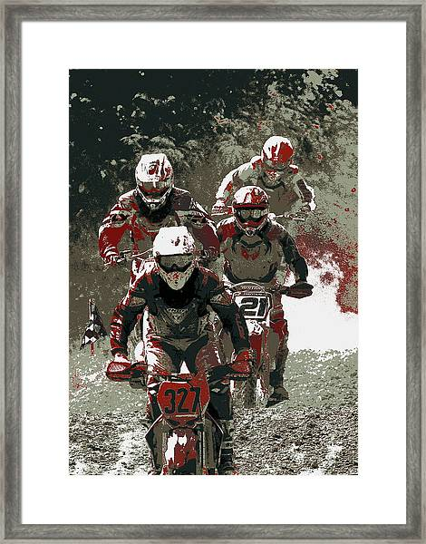 Blood Sweat And Dirt Framed Print