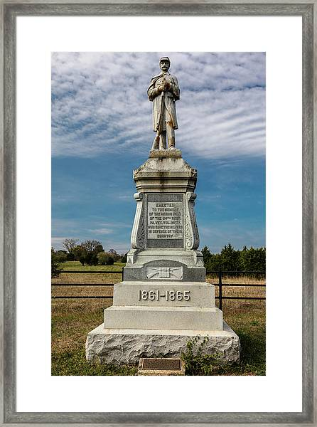 Bloody Cedars Civil War Memorial Framed Print