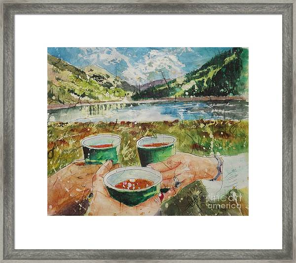 Bloody Mary Mountain Morning Framed Print