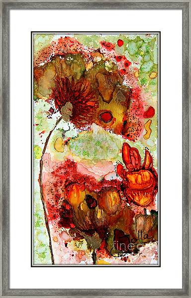 Blooming Impressions.. Framed Print