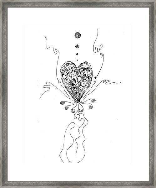 Blossoming Love Framed Print