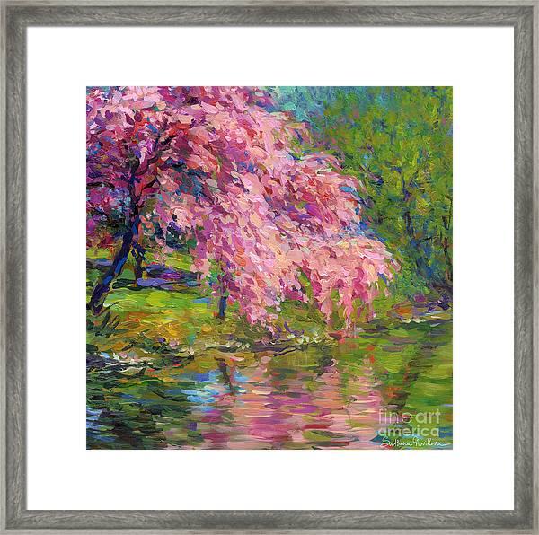 Blossoming Trees Landscape  Framed Print