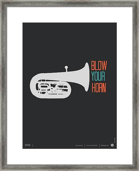 Blow Your Horn Poster Framed Print
