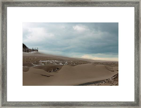 Blowing Sand Framed Print