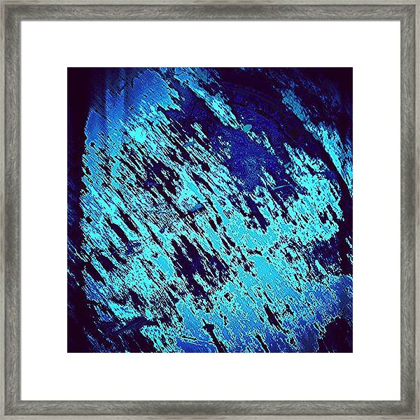 Blu Abstract 3 Framed Print
