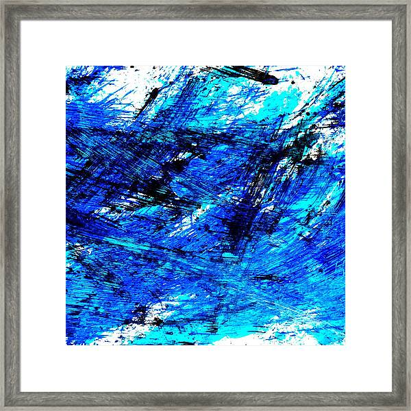 Blu Abstract 4 Framed Print