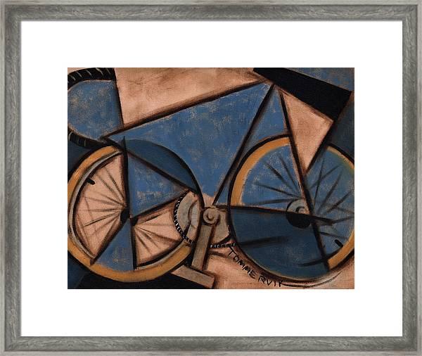 Tommervik Blue Abstract Ten Speed Art Print Framed Print