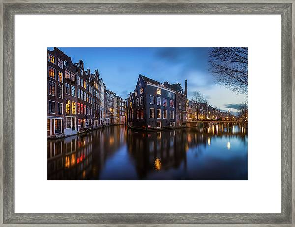 Blue Amsterdam Framed Print by Clara Gamito