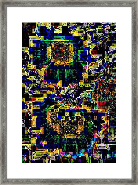 Blue And Betwixed Framed Print