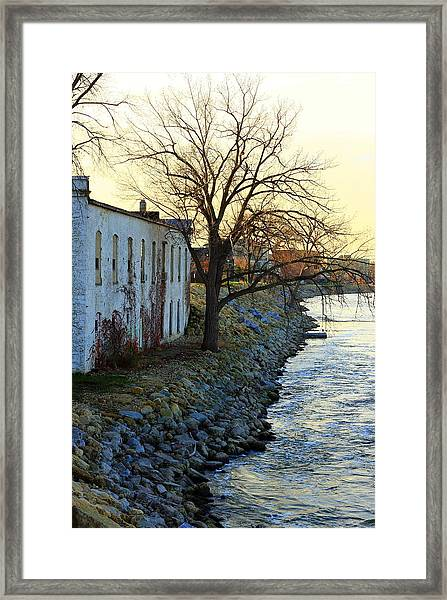 Blue And Yellow Morning Framed Print
