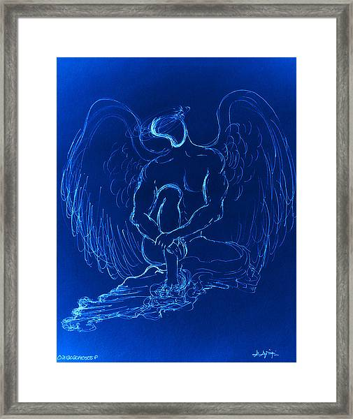 Blue Angel Framed Print