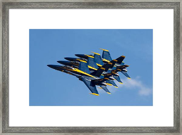 Blue Angels Echelon Framed Print