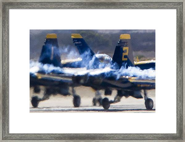 Blue Angels Ready For Takeoff Framed Print