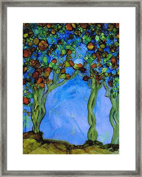 Blue Autumn Framed Print