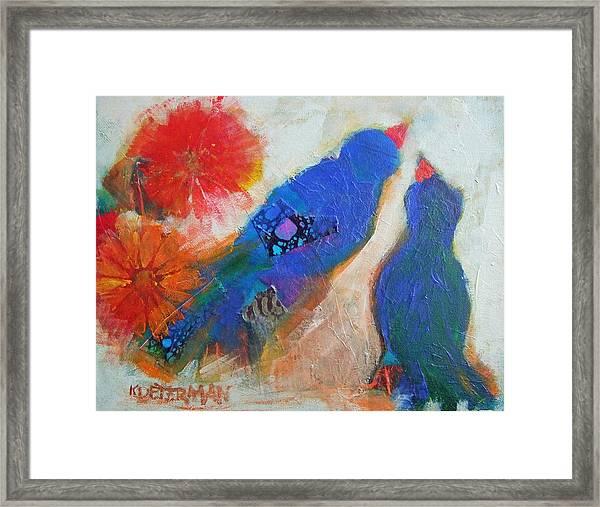 Blue Birds Framed Print