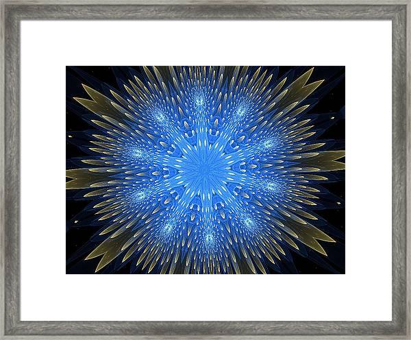 Blue Boldness Mandala Framed Print