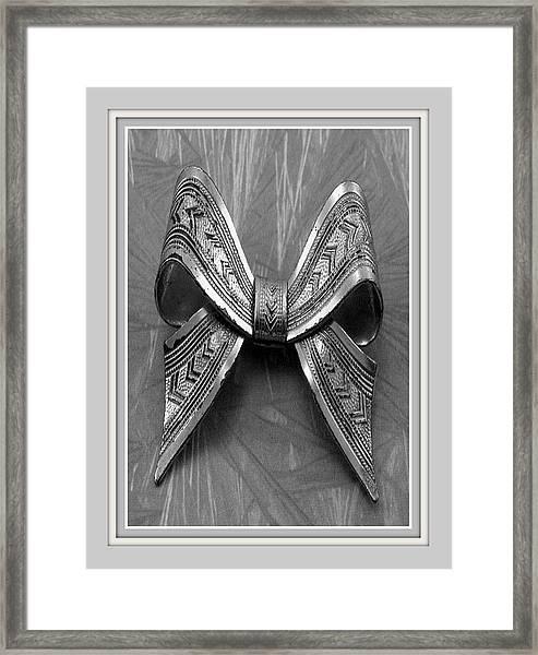 Blue Bow Framed Print
