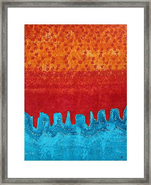 Blue Canyon Original Painting Framed Print