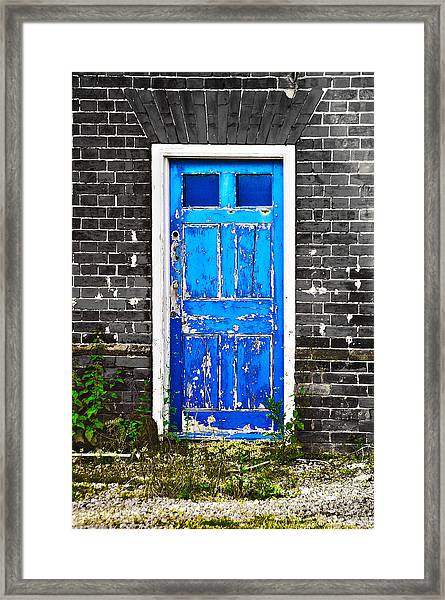 Blue Chipped Framed Print