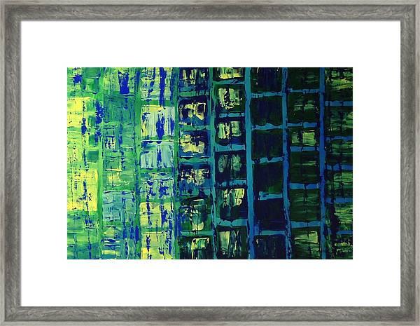 Blue City 2 Framed Print