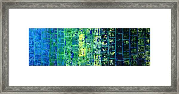 Blue City Framed Print