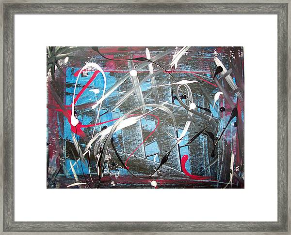 Blue Confusion Framed Print