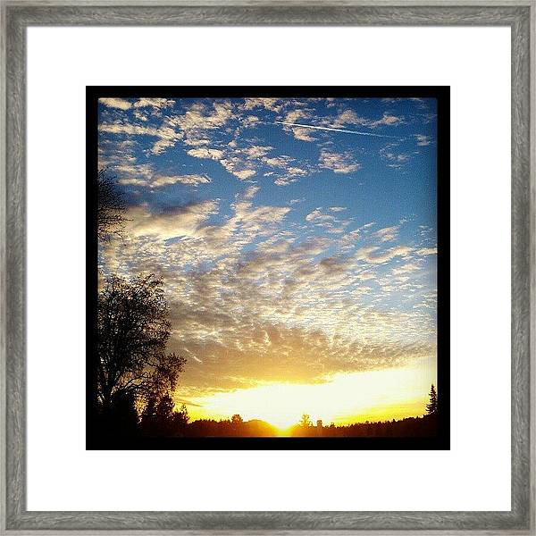 Blue Contrail Framed Print
