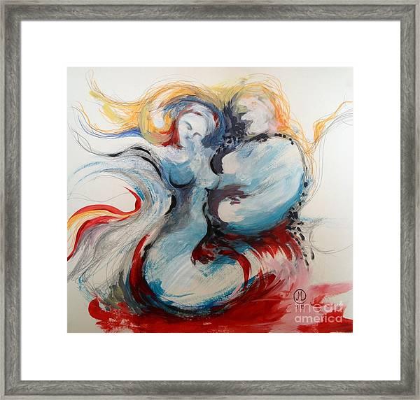 Blue Couple Framed Print