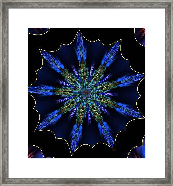 Blue Danube Kaleidoscope Framed Print