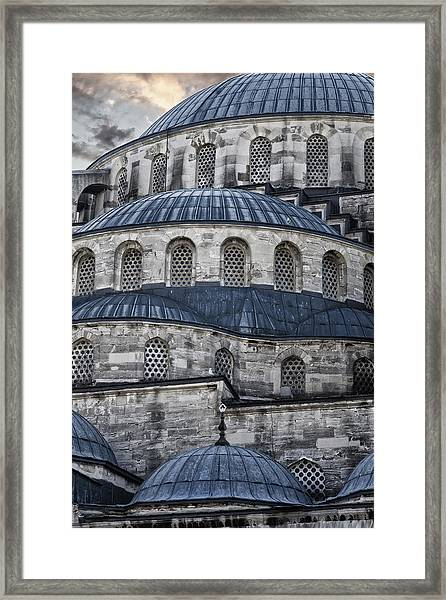 Blue Dawn Blue Mosque Framed Print