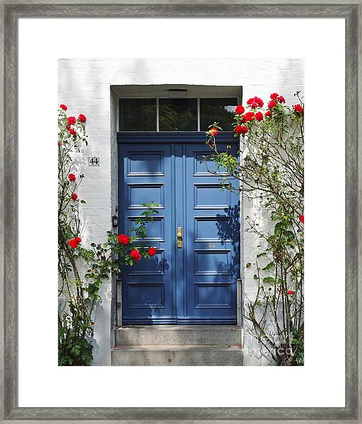 Blue Door Framed Print