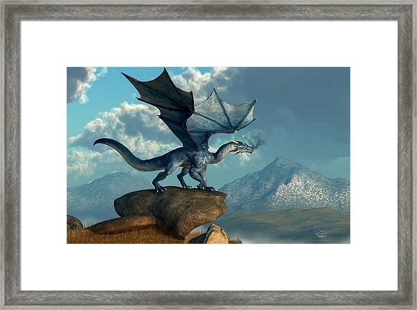 Blue Dragon Framed Print