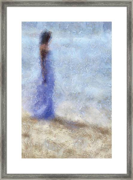 Blue Dream. Impressionism Framed Print